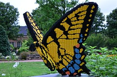 Lego Butterfly (pjpink) Tags: legos buildingblocks plastic sculpture lewisginterbotanicalgardens lewisginter lewisginterbotanicalgarden gardens northside rva richmond virginia july 2016 summer pjpink