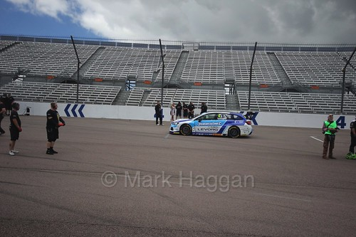 Colin Turkington on the grid at Rockingham, August 2016