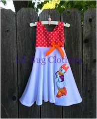 Daisy Duck Dress  Glitter (Lil' Bug Clothing) Tags: daisy duck girl dress halter summer