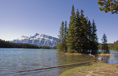 Two Jack Lake (LunaticDesire) Tags: canada canadian ca northamerica north america western westerncanada therockymountains rockymountains rocky mountains moosetravel travel traveling exterior photography nikon d40 dslr 18105 may 2016 spring alberta ab banff twojacklake two jack lake water waterscape landscape mountrundle mount rundle beautiful scenery nature wild wilderness