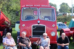 Relaxing (benpadley) Tags: onslowpark classiclorries classicvehicles shropshire shrewsburysteamrally lorry britishroadservices red bristol steam vintage vehicle family colour shrewsbury outdoors