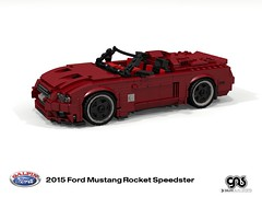 Galpin-Fisker Ford Mustang Rocket Speedster (2015) (lego911) Tags: ford mustang s550 galpin fisker rocket speedster convertible 2015 auto car moc model miniland lego lego911 ldd render cad povray lugnuts challenge 106 exclusiveedition exclusive limited special edition v8 supercharged 2010s usa america muscle sport sportscar foitsop