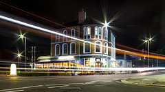 The Hyde Park (Rich Walker75) Tags: plymouth devon uk england lighttrails lighttrail traffic traffictrails traffictrail pub architecture buildings building night nighttime nightshot nightlight city urban street streets