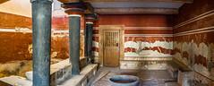Cnossos, la salle du trne (Vincent Rowell) Tags: raw balkans2016 stitchedpanorama knossos crete greece heraklion throneroom minoan minoanciviization archeologicalsite