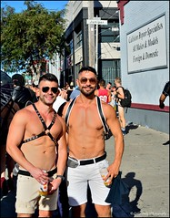 Folsom Street Fair 2016 - When 2 Hot Adams Collide! (Little Italy Photography) Tags: nikond7100 nikon nikondigitalslr sanfrancisco ca nikon35mmf18gafsdxlens men leather boys view exhibitionist california folsomstreetfair streetfairs costumes tats chest bare neighborhoods events hairychest muscle folsomleatherfestival tattoos smokinghot stud mansman face women hunk harnesses colors styles makeup hats beards folsom2016 people masks feathers angelwings folsomdore dogs collision kink bdsm red bondage streetfair