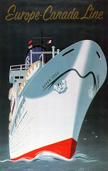 Europe - Canada Line (71B / 70F ( Ex Jibup )) Tags: travel cruise holiday water ferry dock post postcard ships transport picture floating craft vessel cargo stamp deck rig oil send sail passenger write hull float postage carry tanker funnel liner oilrigmast