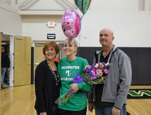 Senior Brooke Foskey tallied nine kills, three assists and three block assists on Senior Day