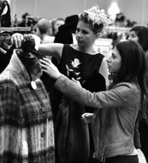 Randolph Street Market (tacosnachosburritos) Tags: street woman chicago girl beautiful fashion pretty market designer antique hats jewelry retro used clothes indie accessories chic randolph trinkets shabby