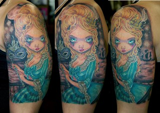 Tattoo by James Danger Harvey, Collector Desiree Melo, victorian by James Danger Harvey