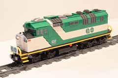Lego GO Train F59PH Locomotive (michaelgale) Tags: train lego passenger gotrain moc gotransit f59ph