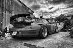 blackandwhite bw japan porsche kansai rwb 993 porsche993 cartuner ラフ・ヴェルト raughweltbegriff