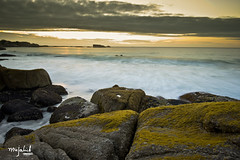 Sunset at Clifton (Mujahid's Photography) Tags: longexposure sunset sea sun clouds southafrica rocks capetown boulder atlantic boulders fungus algae clifton westerncape cliftonbeach 1635 nd8 nikond800 mujahidurrehman nikon1635mm mujahidsphotography