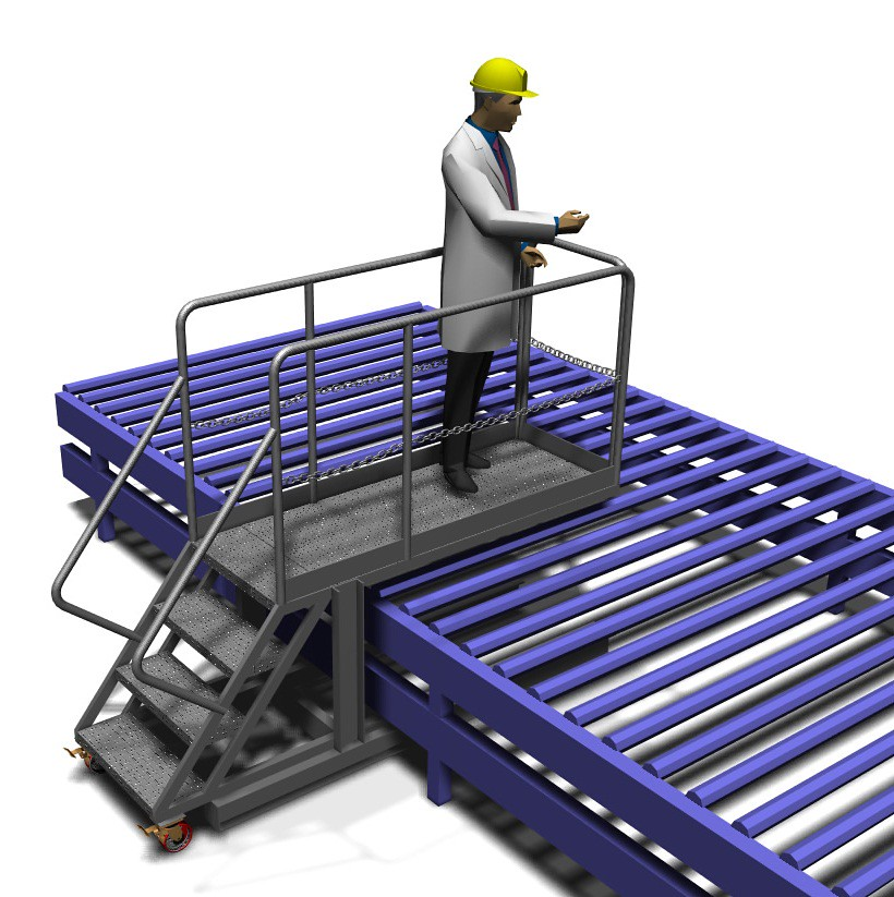 Conveyor Supported Cantilever Inspection Platform