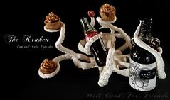 The Kraken Rum & Coke Cupcakes (WillCookForFriends) Tags: sculpture food black recipe dessert photography cupcakes cola swiss coke caramel octopus rum coca meringue styling kraken the buttercream spiced