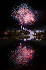 Celebrating Salem 2012 (Adam's Attempt (at a good photo)) Tags: longexposure color reflection colors reflections pond nikon colorful fireworks wideangle salem d90 lr4 salemdays salemutah salempondfireworks celebratingsalem2012