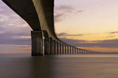 Le pont de l'le de R (2) (Lucien Vatynan) Tags: bridge sea seascape clouds sunrise canon eos pont larochelle nuages waterscape iledere littoral leverdusoleil rivedoux charentesmaritimes 60d stunningskies blinkagain rememberthatmomentlevel1
