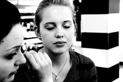 Afternoon at Sephora (faycitage) Tags: portrait white black cute girl beautiful model makeup glam sephora georgeous