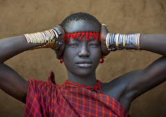 Miss Domoget, Bodi Tribe Woman With Headband, Hana Mursi, Omo Valley, Ethiopia (Eric Lafforgue) Tags: africa haircut color art girl beautiful beauty horizontal clothing colorful day earring culture jewelry adobe bracelet beautifulwoman omovalley bangle colourful ethiopia ethnic hairstyle beautifulpeople bodymodification headband jewel determination headwear hornofafrica ethnology bodi omo eastafrica colorimage lookingatcamera beautify meen 7521 headandshoulder africanethnicity bodytransformation ethiopianethnicity hanamursi eth7521