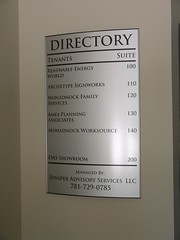 Interior Commercial Wayfinding Directory Sign
