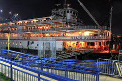 The Delta Queen at Night (SeeMidTN.com (aka Brent)) Tags: chattanooga tn tennessee steamboat tennesseeriver coolidgepark deltaqueen nationalhistoriclandmark nrhp bmok paddlewheelsteamboat deltaqueenhotel coolidgeparklanding