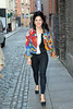 Marina Diamandis of Marina and the Diamonds arrives on foot at The Olympia Theatre Stage Door in Dublin