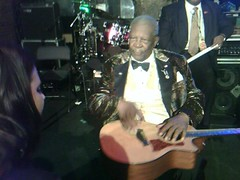 BB King Signing Babe Coal's Guitar (Babe Coal) Tags: street music toronto canada news vancouver freedom tv bc expression montreal north jazz megan babe canadian shore rights soul singer busker constitution coal noise performer charter global songwriter freedoms bylaw regehr of