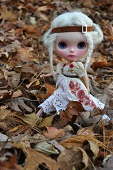 Before the Day Begins (Lawdeda ) Tags: thanksgiving silly fall kitten day handmade blythe custom headband fbl guywholoveblythe