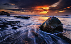 Manyar Menggelegar (eggysayoga) Tags: longexposure sea bali cloud seascape motion beach water rock sunrise indonesia nikon hard wave tokina filter 09 lee nd pantai graduated waterscape gnd 1116mm manyar d7000