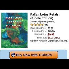 Fallen Lotus Petals on Kindle (Jordon Papanier) Tags: square book squareformat novel bookcover bestseller kindle lotuspetals iphoneography instagramapp uploaded:by=instagram fallenlotuspetals