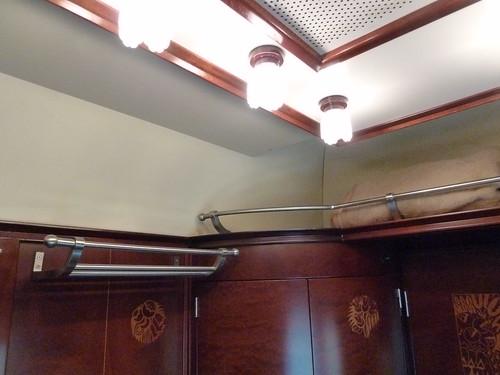 AL Andalus - luxury train in Spain, luggage space in standard suite