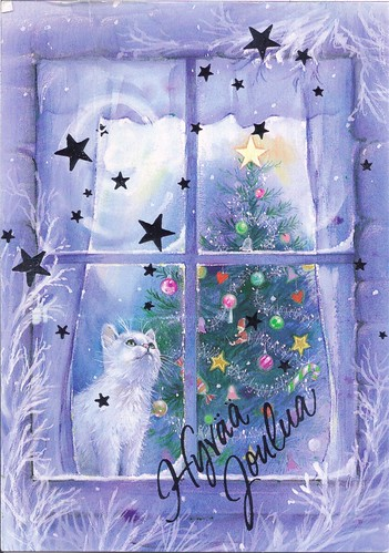 Flickriver photoset christmas cards by mailbox happiness angee at christmas tree cat in window m4hsunfo