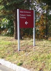Exterior Wayfinding Directional Post & Panel Sign