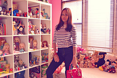 birthday wardrobe remix (girl enchanted) Tags: pink white ikea vintage toy toys star book blurry dolls room bears books disney outoffocus shelf collection collections 80s pixar stuff wars dolly mattel deers collectibles steiff dollies toyroom pinkroom girlsroom expedit blythes kenners dollyroom
