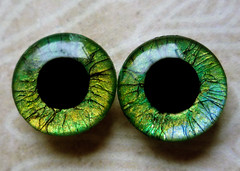 "Handpainted Blythe Eyechips ""Fine Lines - Green"""