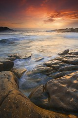 Sea Wolf Sunset - - - Point Lobos, California (ernogy) Tags: ocean california statepark ca sunset sea sky seascape beach landscape coast us monterey shine pacific bigsur carmel pointlobos westonbeach puntadeloslobosmarinos ernogy