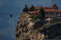 Service lift, Meteora (varlamov) Tags: mountains lift greece monastery meteora