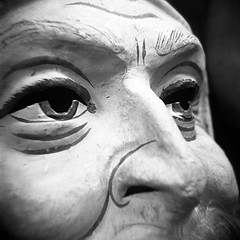 Santa Mask (tomdebiec) Tags: santa christmas xmas museum holga mask toycamera lancaster santaclaus lancastercounty santamask christmasmuseum santaclausmask christmasmask nationalchristmasmuseum