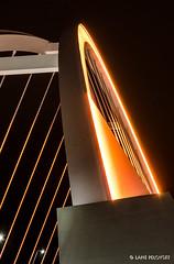 Lowry Lightsaber (lpvisuals.com) Tags: road bridge november usa reflection minnesota architecture lights minneapolis led ave mississippiriver mn lowry 2012