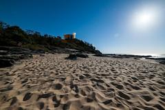 #334 Light House (Tristan#) Tags: light cliff moon house beach night stars sand rocks cartwright