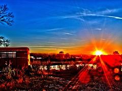 Batesville White River Arkansas sunset (MentalBenStudio) Tags: ranch sunset horse river photography photo image farm picture pic photograph whiteriver arkansas farmer trailer rancher hdr highdynamicrange imagery batesville horsetrailer mentalben