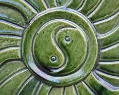 taoist symbol in green glaze (hansecoloursmay) Tags: china green beijing glaze summerpalace tao taijitu