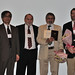 <p>CalCOFI is honored with the PICES Ocean Monitoring Service Award. From left: Sinjae Yoo (Korea), Lev Bocharov (Russia), Tony Koslow (Scripps), and Steve Bograd (NOAA)</p>