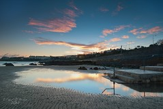 Seapoint Dawn (Explored 1st December 2012) (Paul O'B) Tags: ireland sea dublin beach water sunrise reflections dawn seapoint monkstown offshoot borderfx