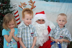 IMG_2957 (drjeeeol) Tags: santa animal katie charlie will triplets toddlers 2012 refuge backtonature 50monthsold