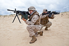 US marines in action (zabielin) Tags: two infantry soldier army fight war ranger action military pair battle special cover american weapon marines fighting combat patriotism militant troops gi nato forces armedforces commando armyrangers specialforces americansoldier recruit aiming americantroops
