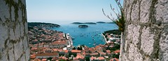 Hvar Town, Croatia (ChihPing) Tags: travel blue panorama film iso800 fuji croatia panoramic hasselblad fujifilm press xpan hvar expiredfilm fujicolor 30mm
