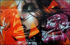 Kat + Quesa + Sly2 (Chrixcel) Tags: portrait woman face kat tag sake graff 77 visage melun 3pp quesa sly2