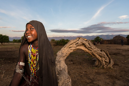 portrait of a little girl tribe Erbore