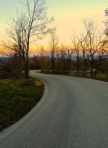Lungo la strada... (rospex) parco strada tramonto via colori nazionale sibillini