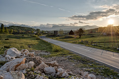 Heavenly Road of Durmitor (nsapronov) Tags: sunset mountains nature rocks roadsigns roads balkans montenegro ruralarea crnagora durmitor ruralroads mountainroads monenegro   nationalparkdurmitor  roadsinnature